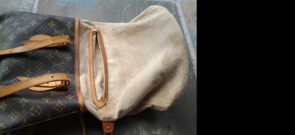 How to repair Sticky lining Louis Vuitton Bucket Purse